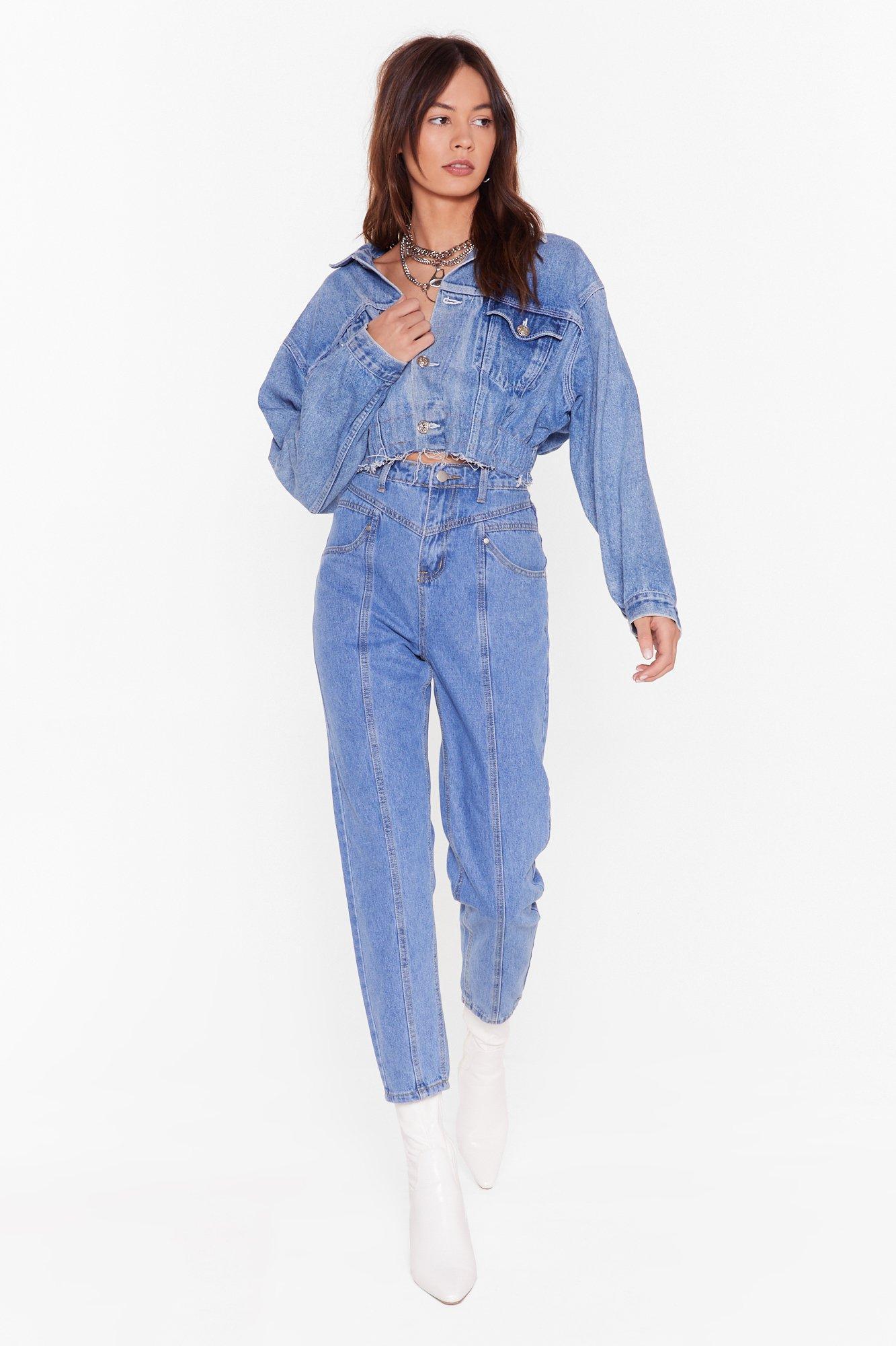Image of Seams Like a Good Idea Denim Mom Jeans