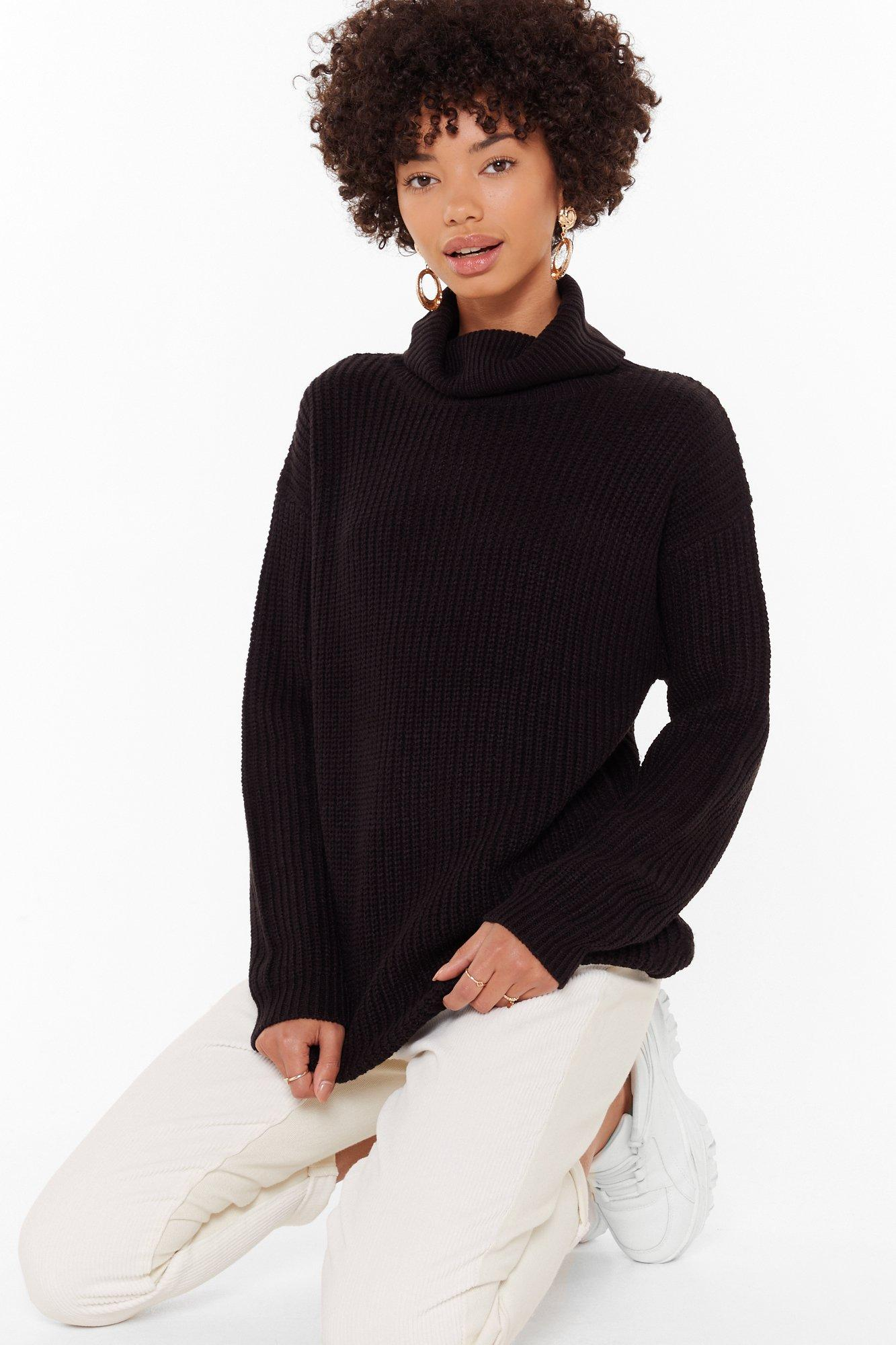 Image of Let the Goodtimes Roll Knitted Longline Sweater