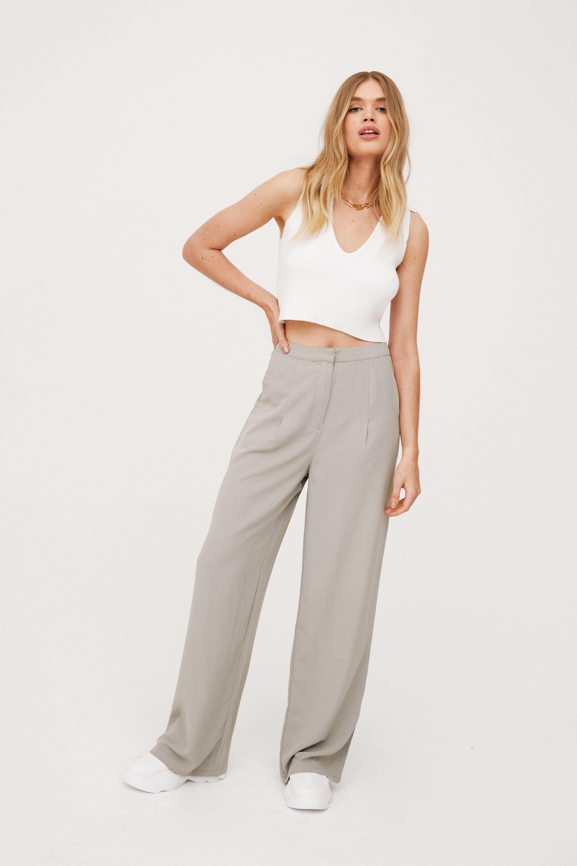 Image of Wide Awake High-Waisted Wide Leg Pants