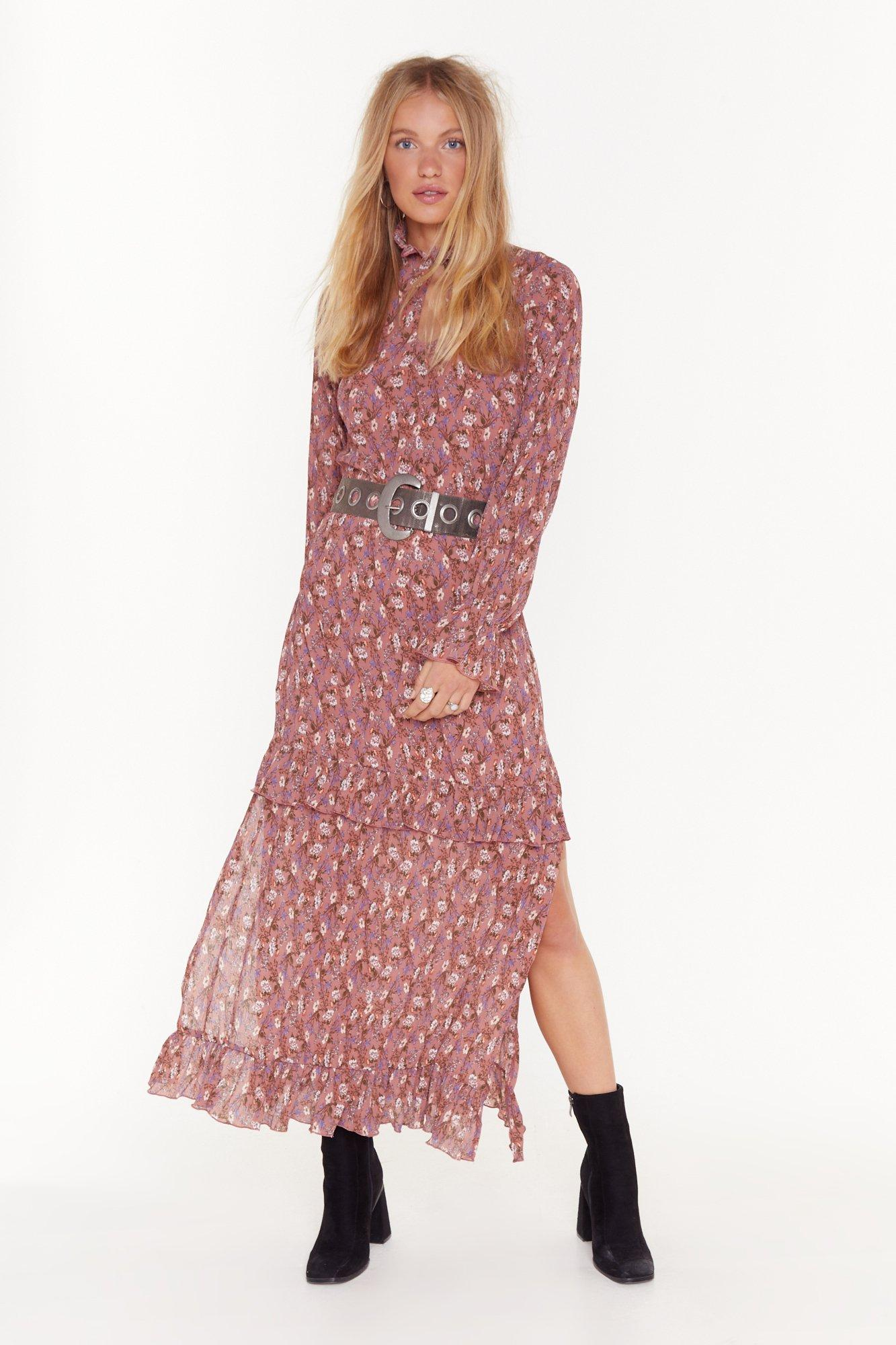 Image of Don't Grow Without Me Floral Maxi Dress