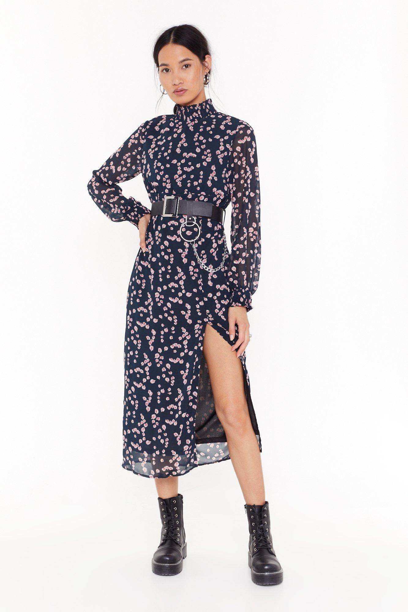 Image of Plant Get Over Floral Midi Dress