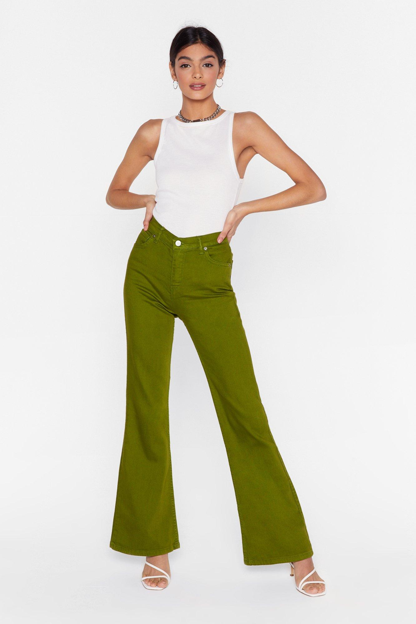 Image of As If We Flare High-Waisted Denim Jeans