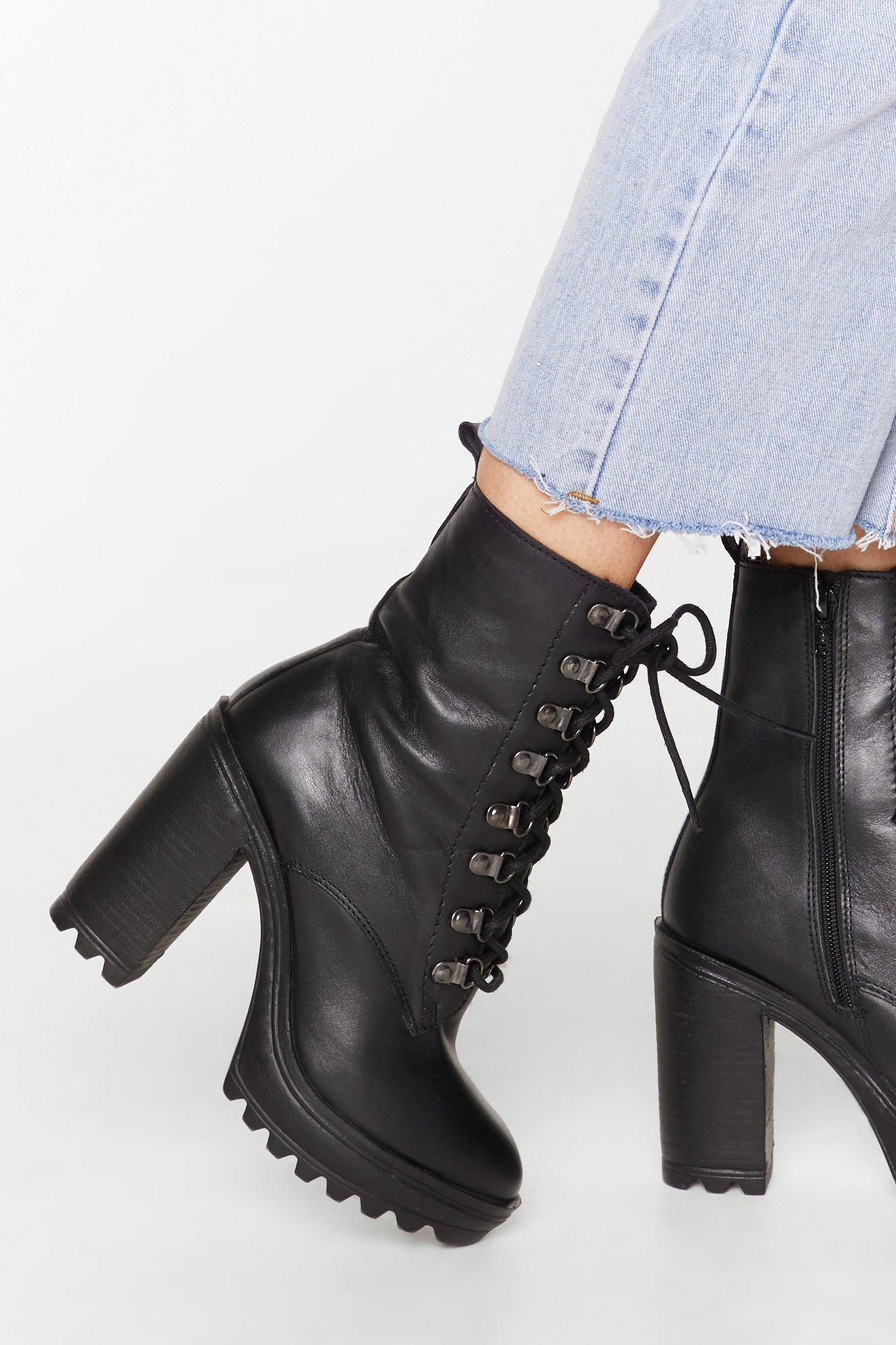 Image of You Can't D-ring Me Down Leather Heeled Boots