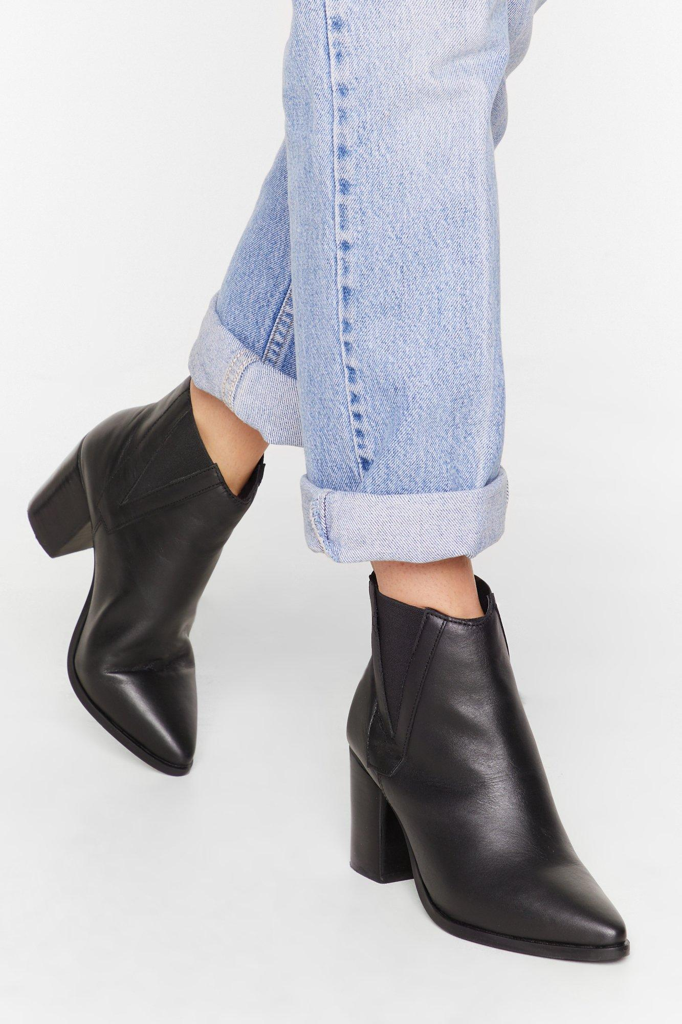 Image of V By My Side Leather Chelsea Boots