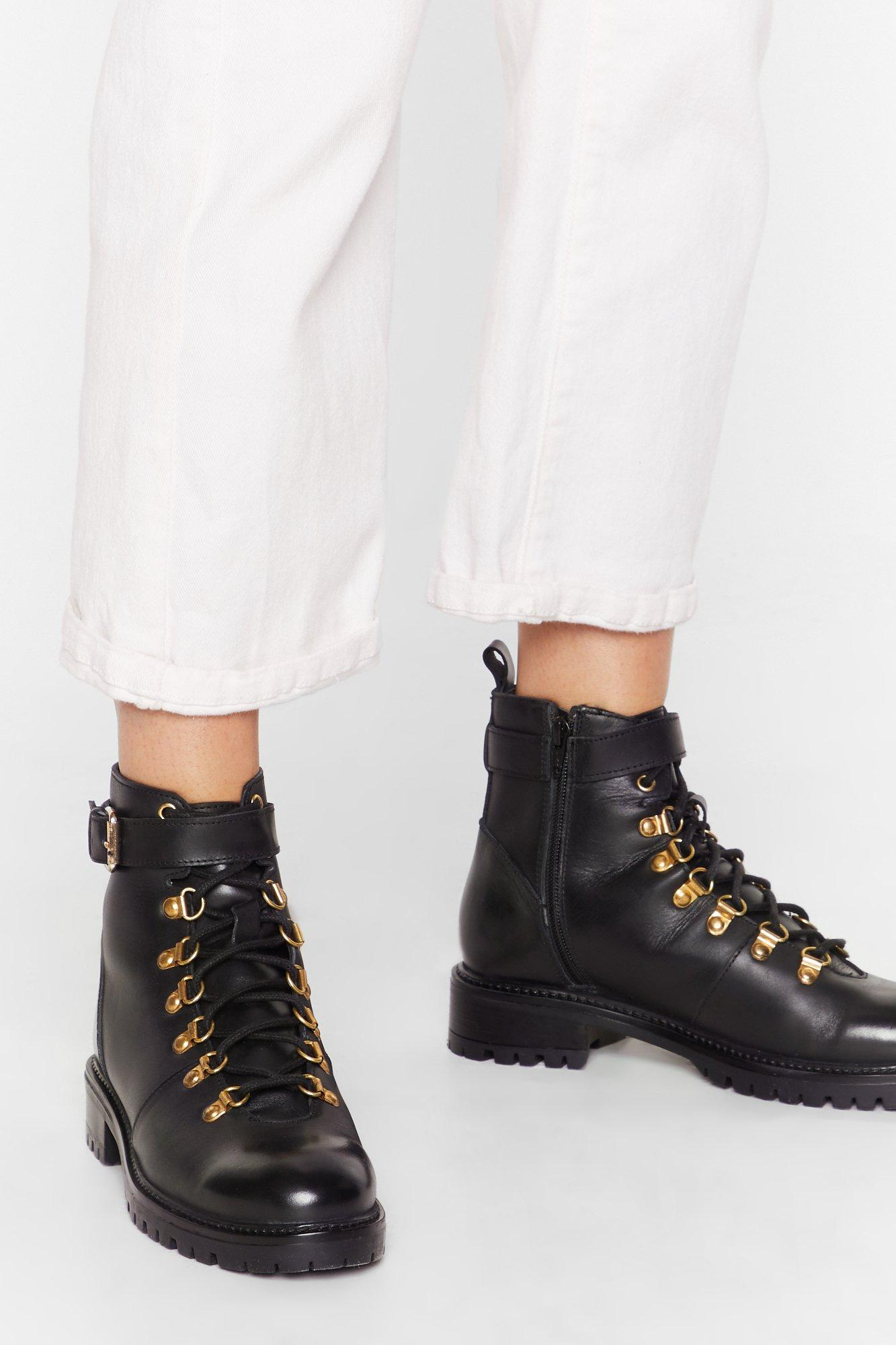 Image of D-ring 'Em Out Leather Hiker Boots