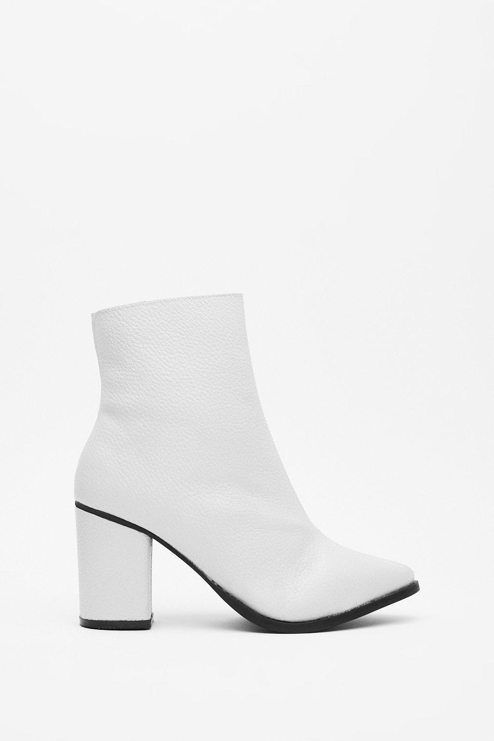 Image of Block 'Em Leather Heeled Boots