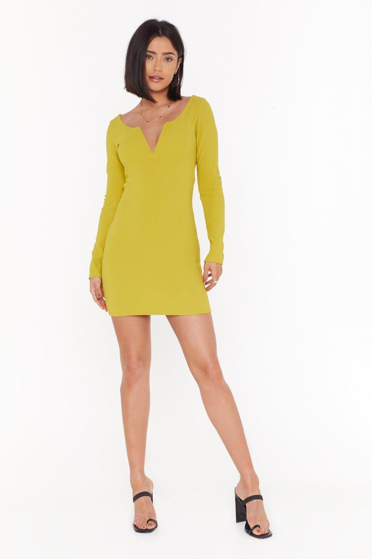 Image of I Want to Break V Ribbed Mini Dress