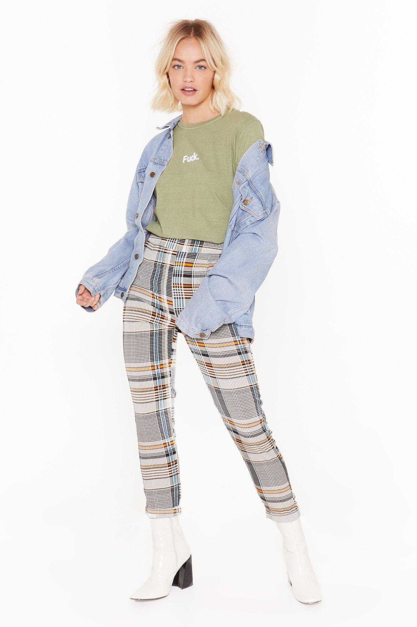Image of Check Out the View High-Waisted Tapered Pants