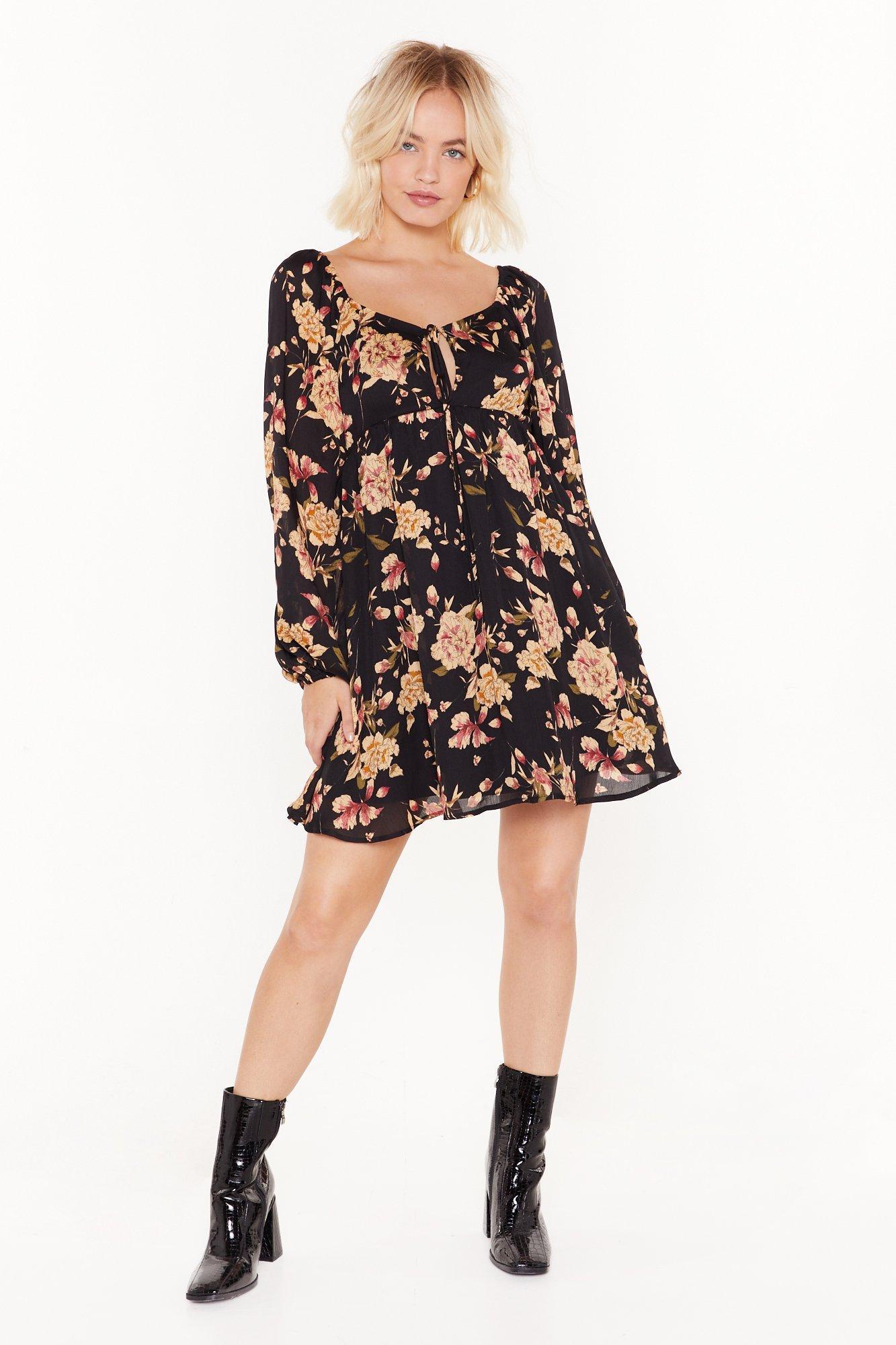 Image of Grow It Away Floral Mini Dress