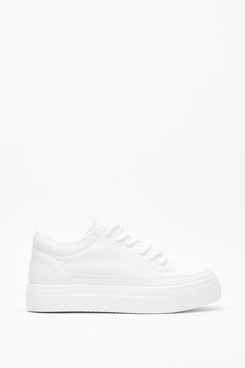 Image of Always on the Run Faux Leather Platform Sneakers