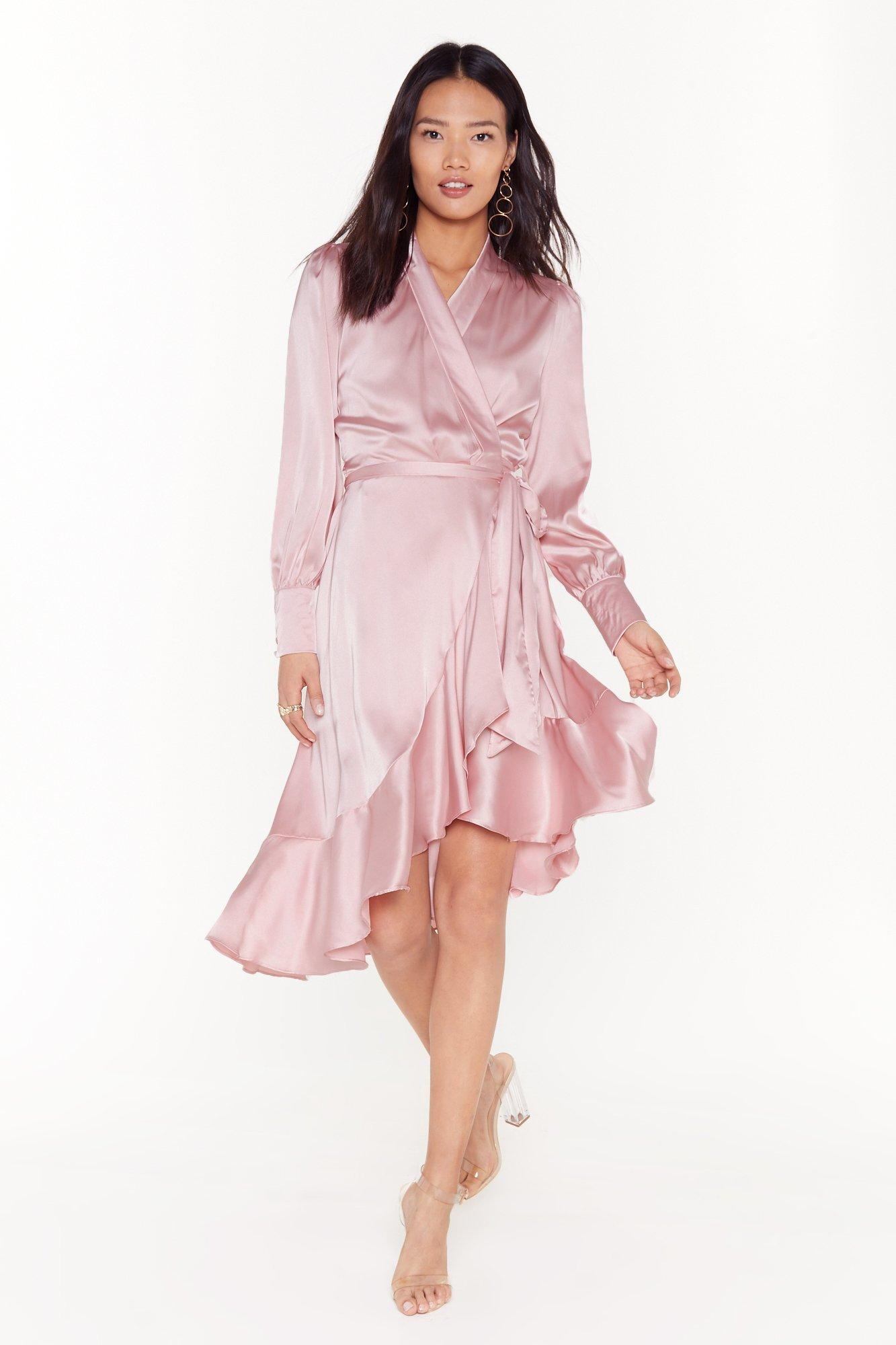 Image of Dressed to Frill Ruffle Wrap Dress