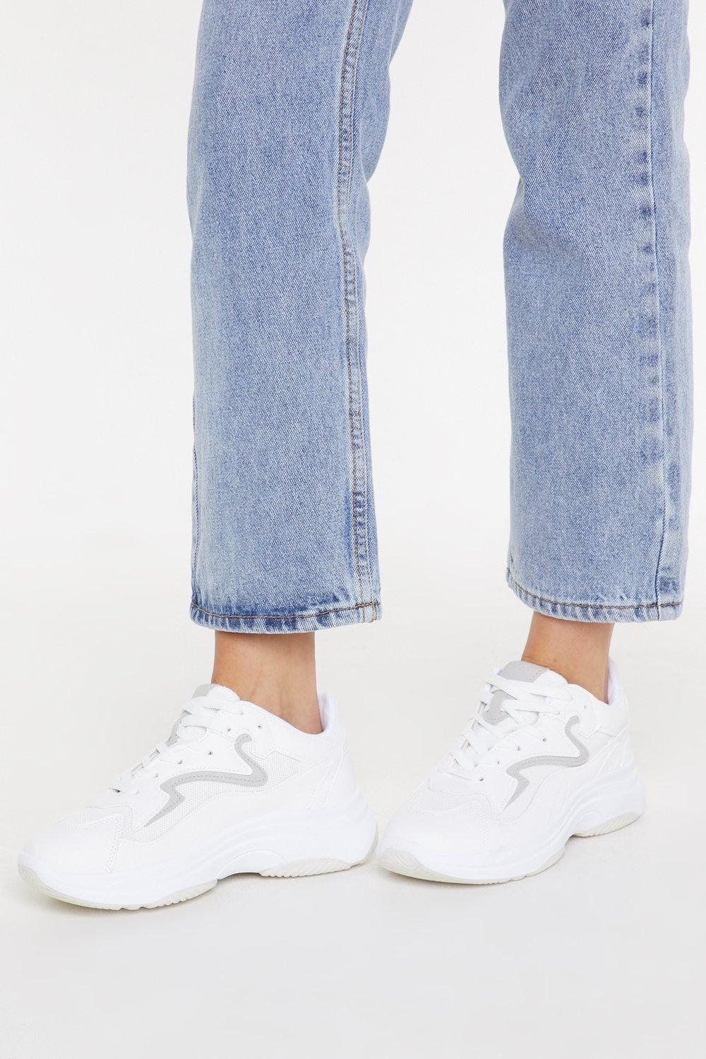 NASTY GAL | Mesh Contrast Chunky Trainer | Goxip