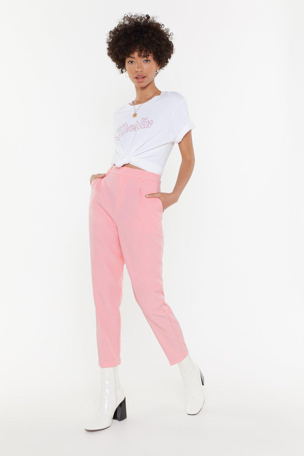 NASTY GAL | Suited And Booted Tapered Pants | Goxip