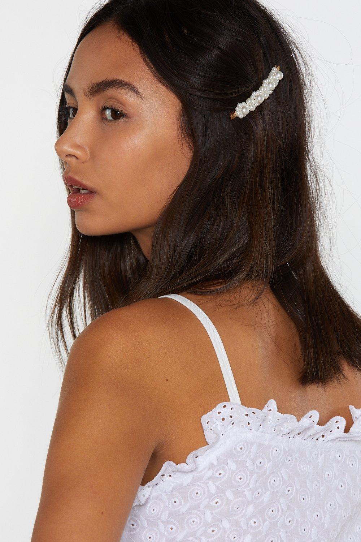 NASTY GAL | Atta Pearl Hair Slides | Goxip