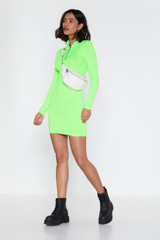 Watch My Zips Mini Dress