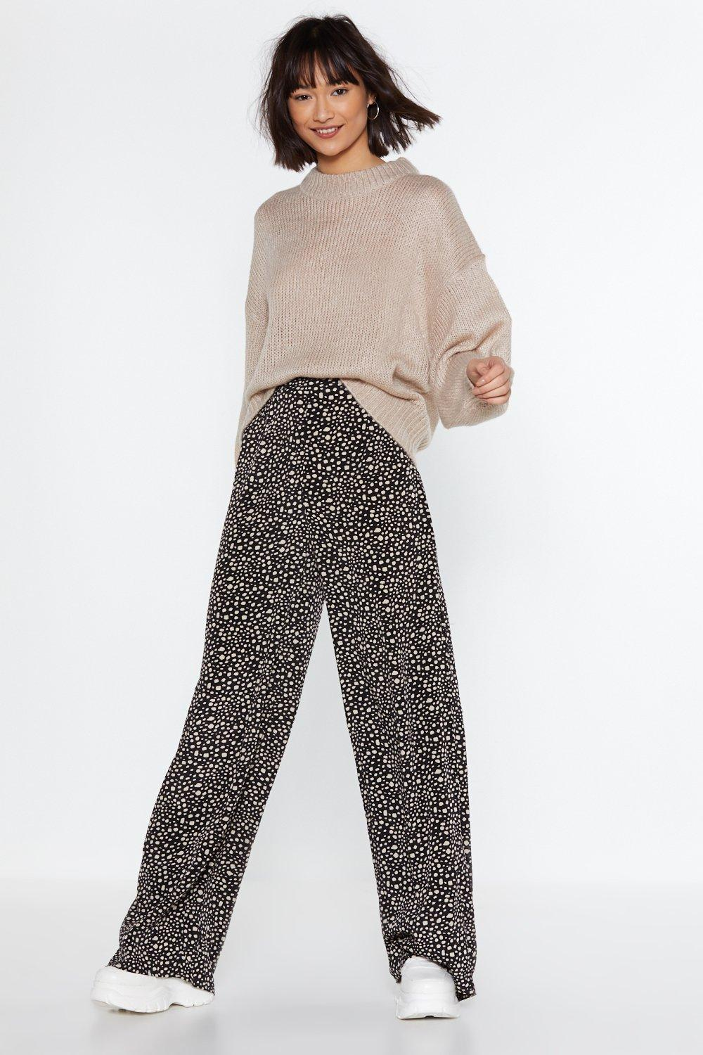 What's Dot into You Wide-Leg Pants