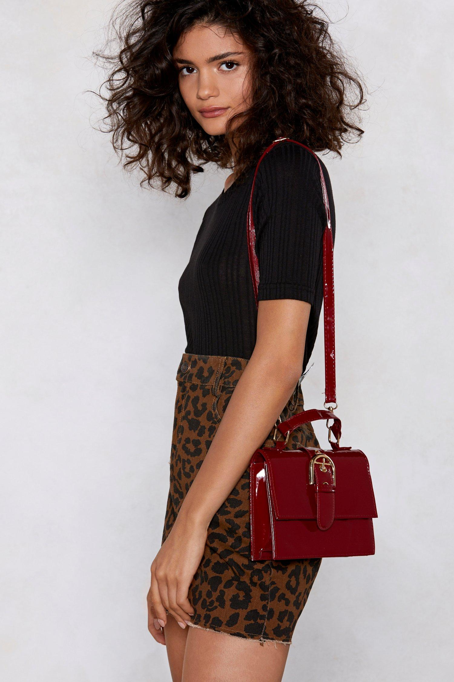 Womens WANT Give a Buckle Crossbody Bag - Red - One Size, Red