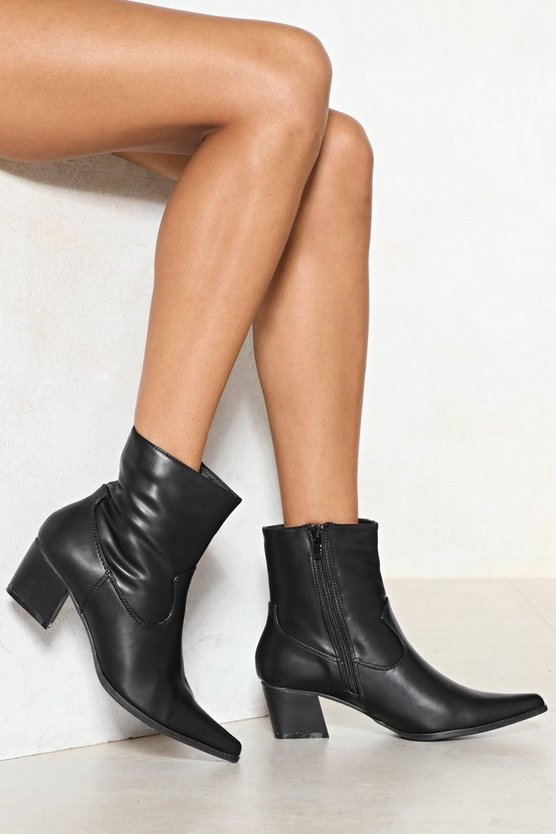 Do You Get My Point Vegan Leather Boot by Nasty Gal