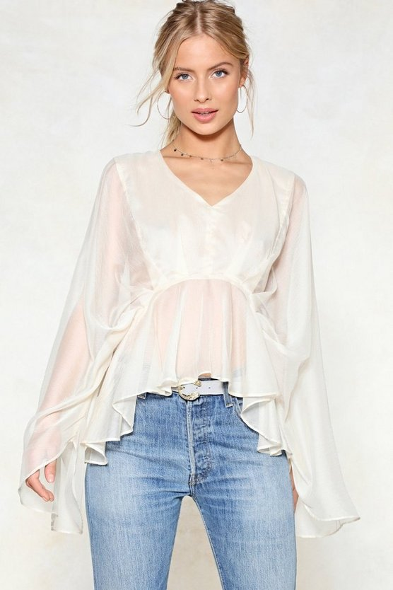 Cape Up Mesh Top by Nasty Gal