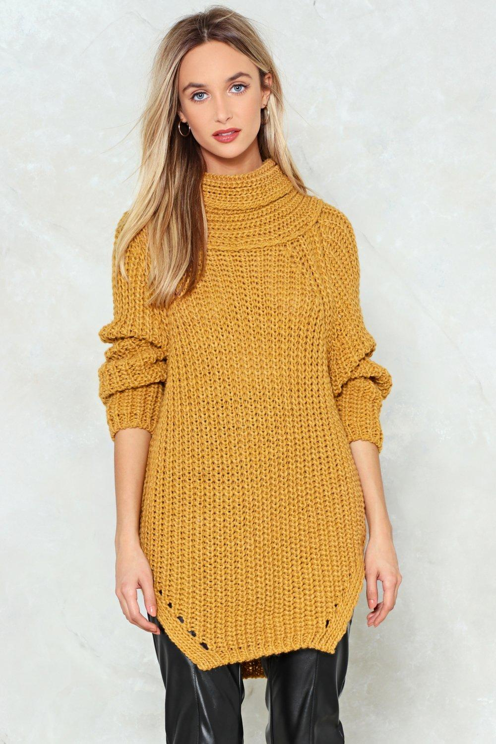 Cowl Goes Knit Oversized Sweater | Shop Clothes at Nasty Gal!