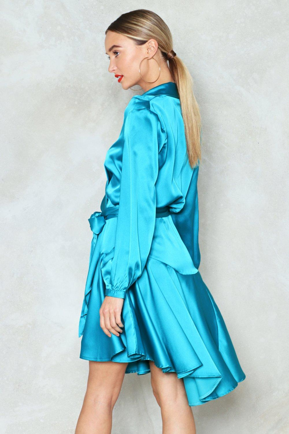One Final Attempt Satin Dress | Shop Clothes at Nasty Gal!