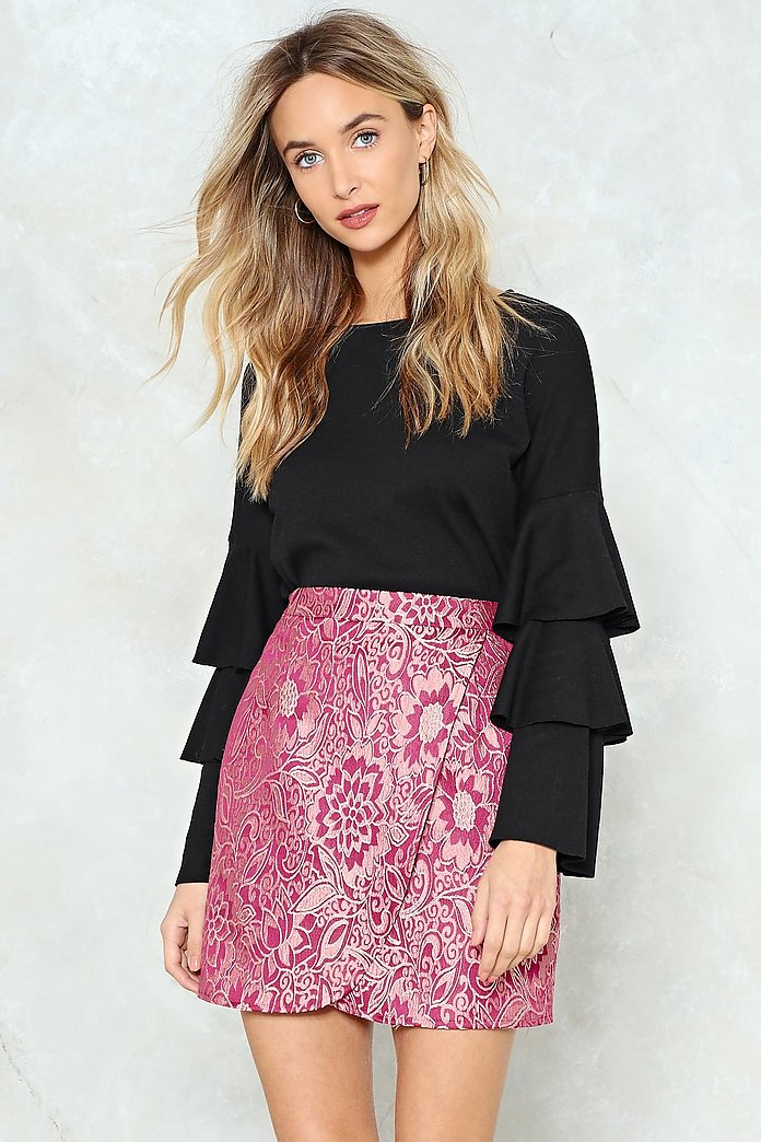 Back to Jacq Wrap Skirt