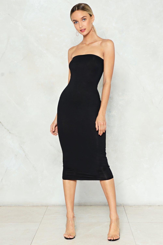 Strapless black&white stripe dress formal