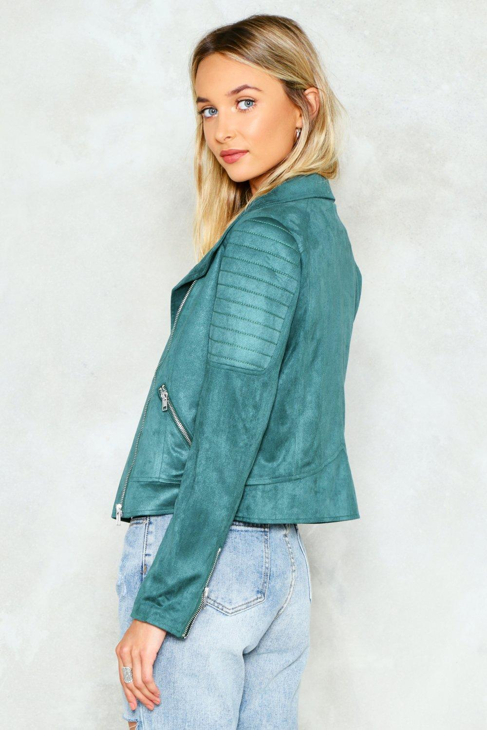 New Rules Vegan Suede Moto Jacket | Shop Clothes at Nasty Gal!