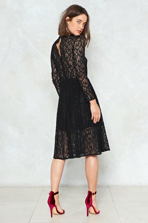 Black Sky Dress with Belt