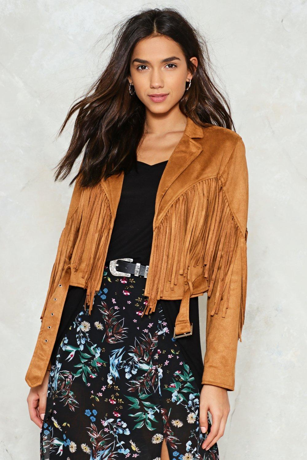 I Can Per-Suede Ya Fringe Jacket | Shop Clothes at Nasty Gal!