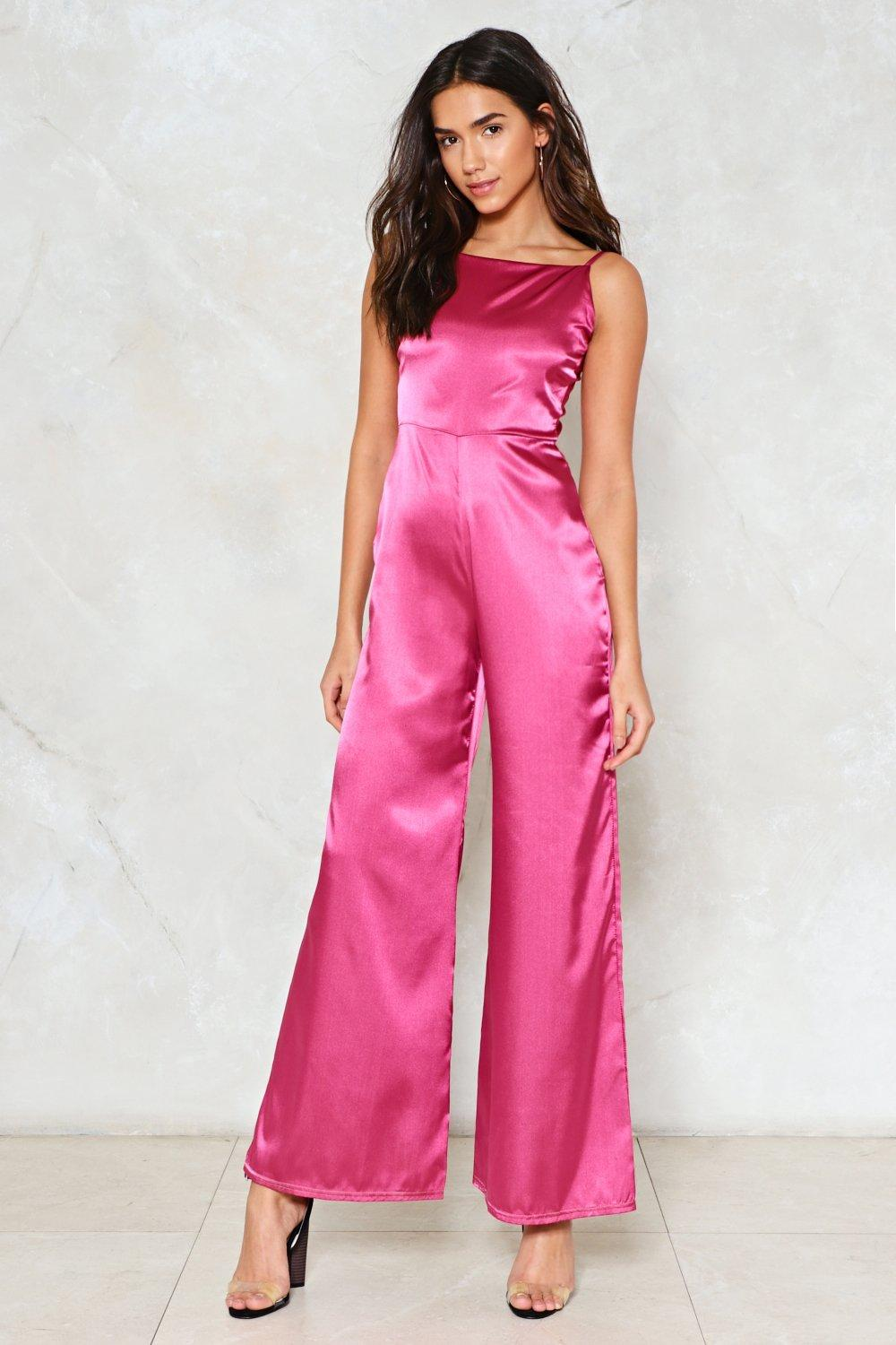 clueless satin jumpsuit shop clothes at nasty gal