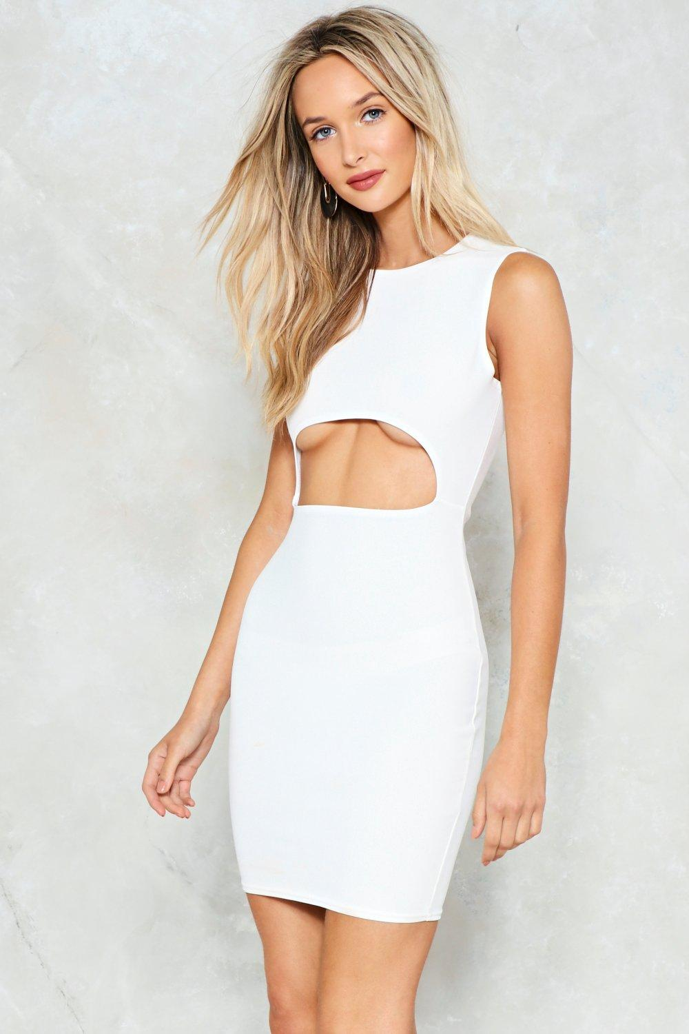 White cut out dress for cheap