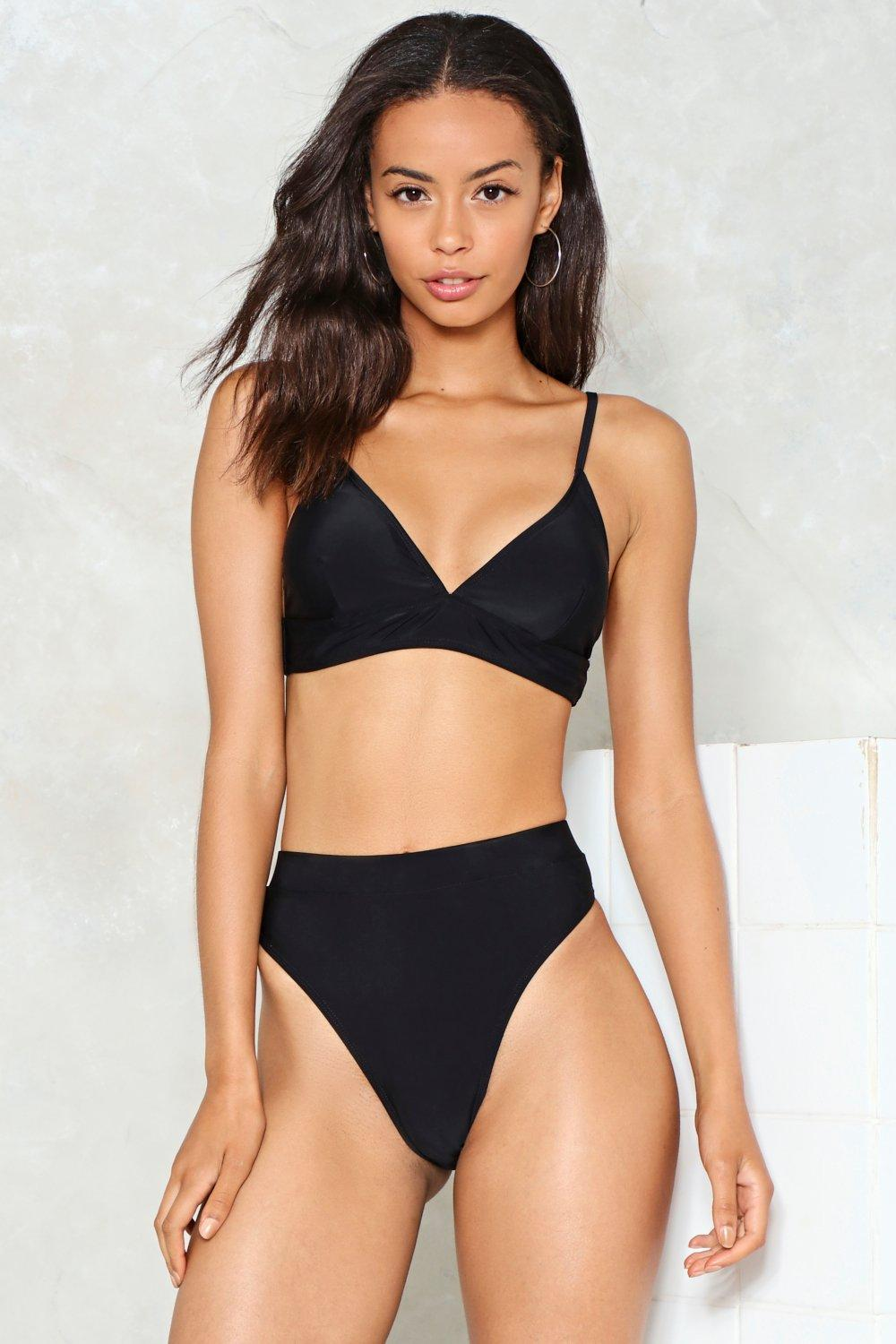 High waisted high leg bikini