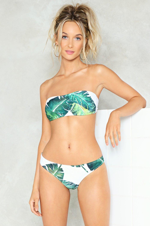 Covered bandeau bikini