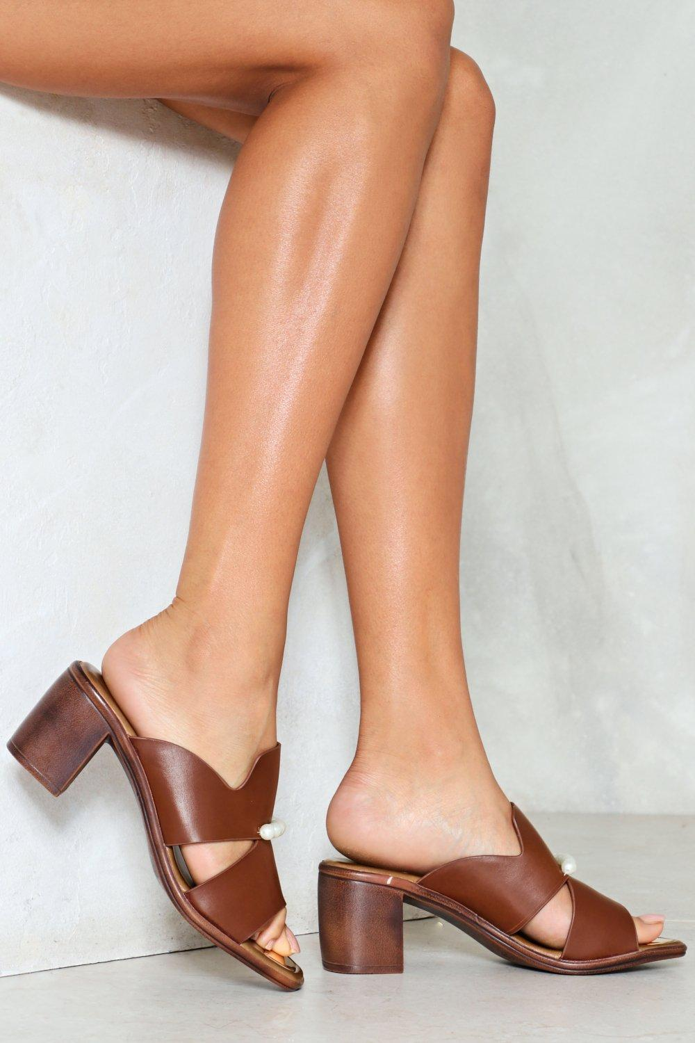 Pearl-fection Vegan Leather Mule