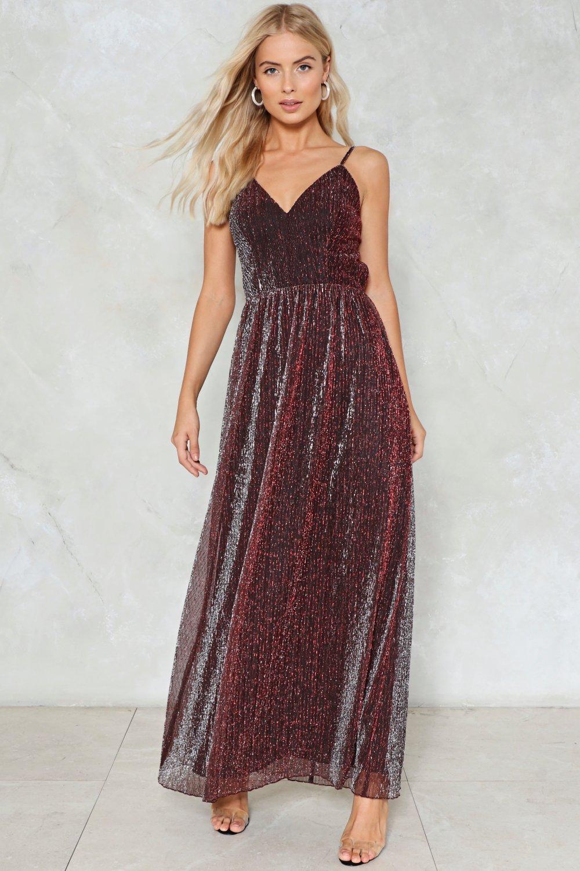 Believe Metallic Dress