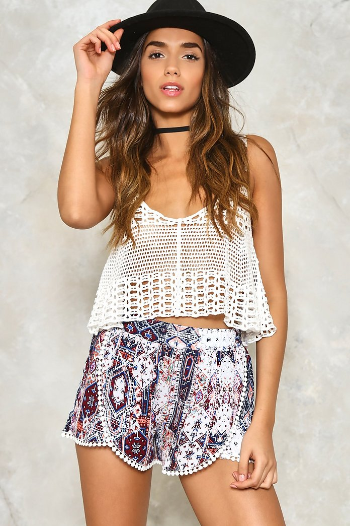 Mixed Emotions Tassel Shorts