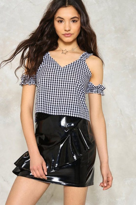 Don't Be a Square Gingham Top