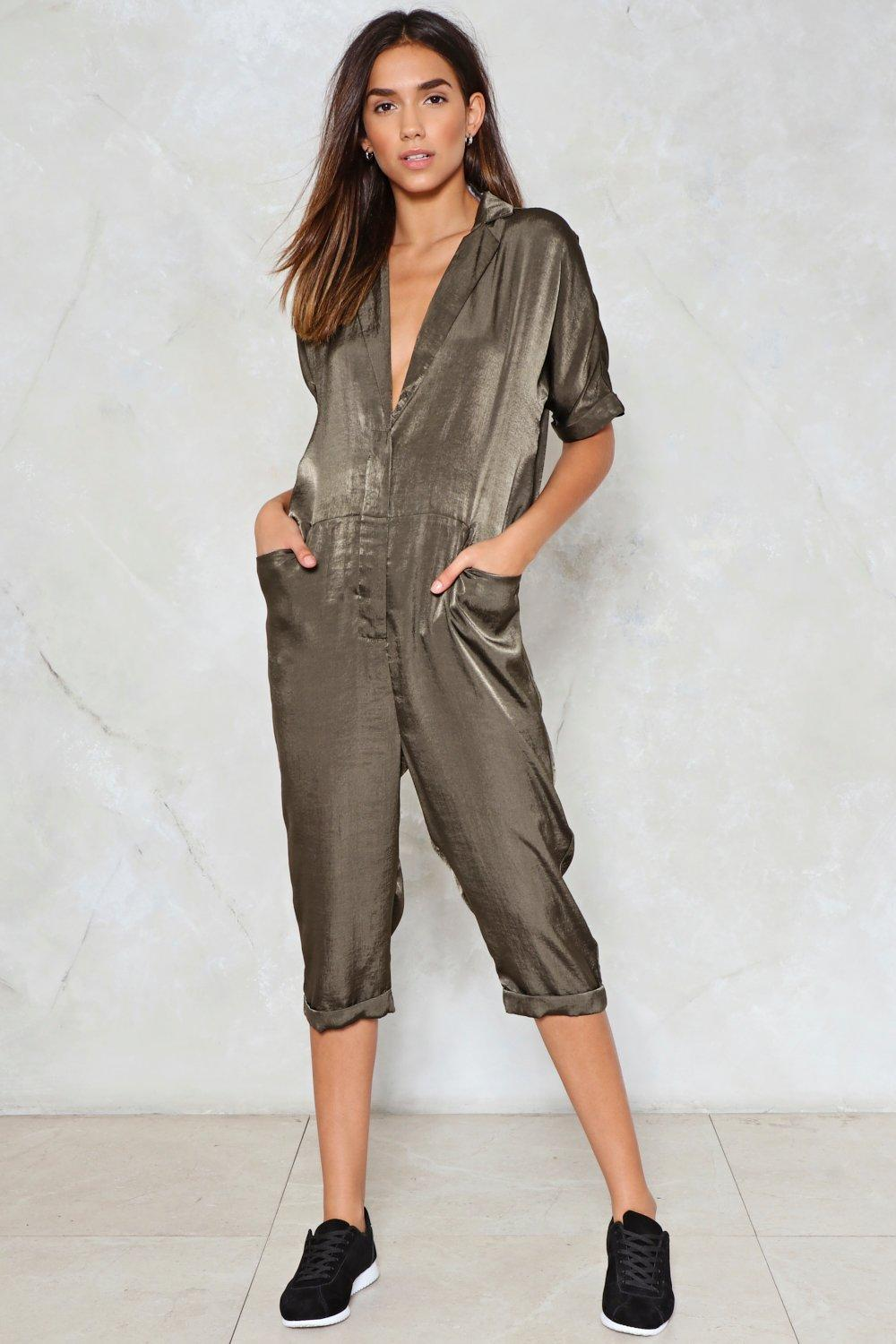 Dirty Work Satin Jumpsuit