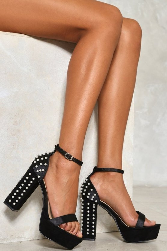 Tumble and Pearl Platform Heel