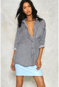 Gingham Oversized Blouse