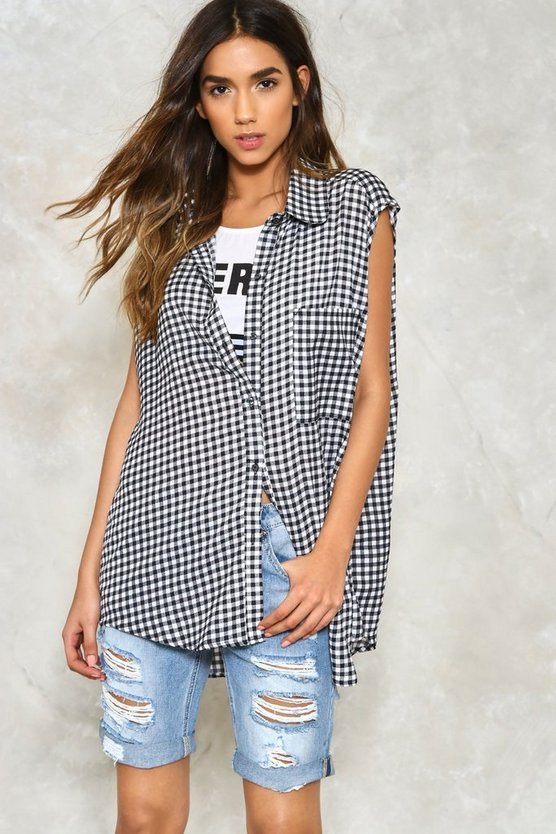 Walk in the Park Gingham Top
