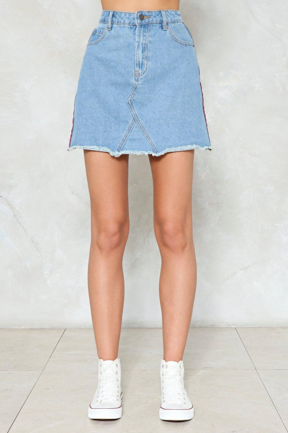 All Day And All of the Night Striped Denim Skirt | Shop Clothes at ...