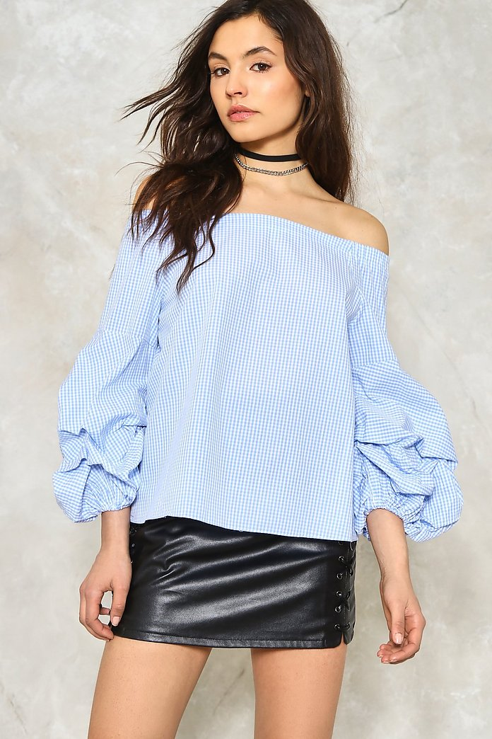 Sleeve It to Me Off-the-Shoulder Top