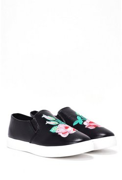 Grow Your Own Way Floral Slip-On Sneaker