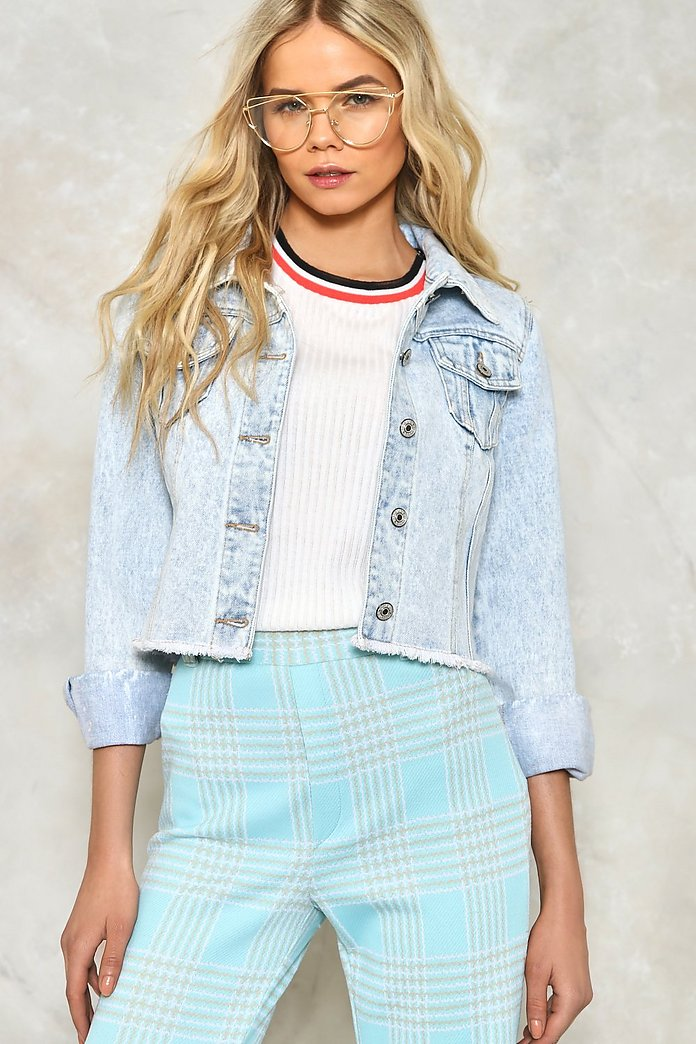 The Edge Of Glory Cropped Denim Jacket