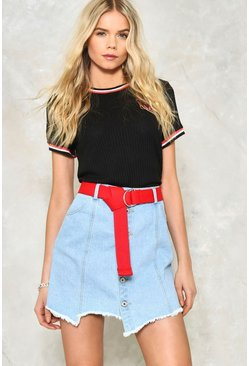 All Bark Denim Skirt