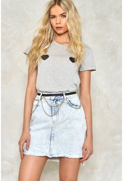 Knock Hem Dead Denim Skirt