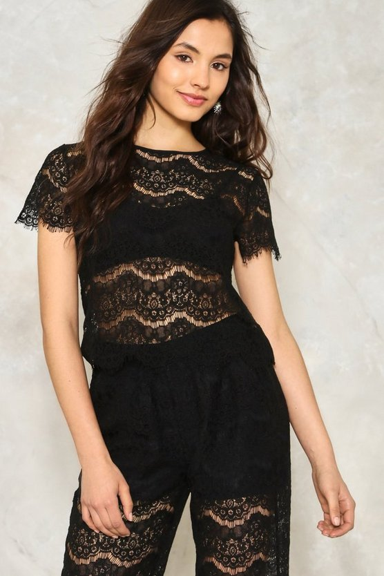Bat Your Lashes Lace Crop Top
