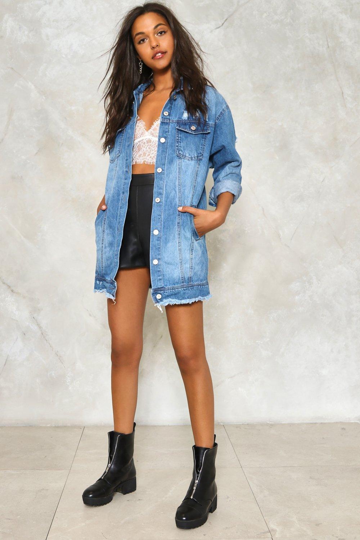 Run the World Pearl Denim Jacket | Shop Clothes at Nasty Gal!